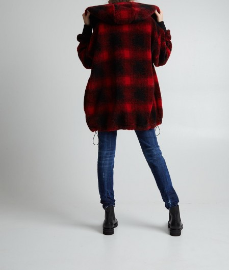 Dsquared2 Coat with patches red