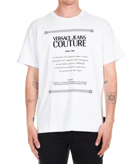 Versace Jeans Couture T-shirt with logo print white