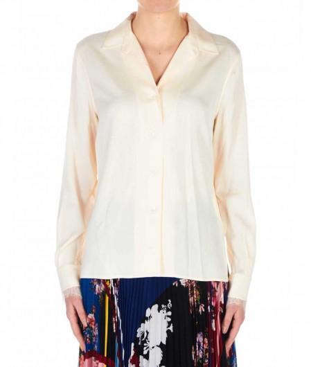 Calvin Klein Lace-detail blouse salmon