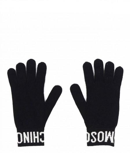 Moschino Gestrickte Handschuhe Pink