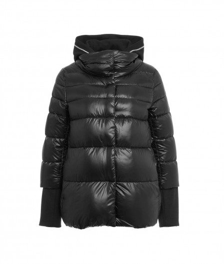 Herno Down jacket with sweater insert black