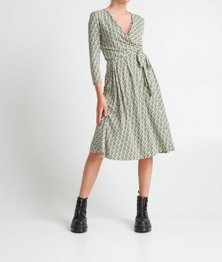 Guess Dress with geometric pattern green