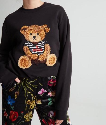 5 Progress Sweater with teddy application black