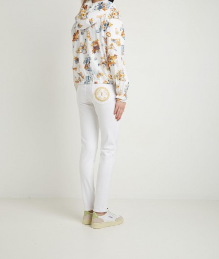 Versace Jeans Couture T-shirt with all over logo white