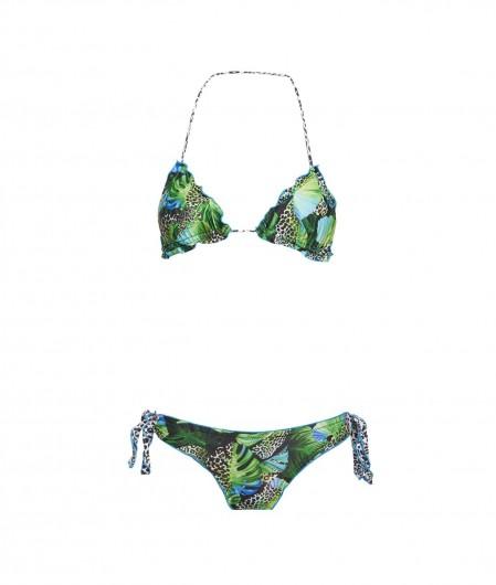 "4Giveness Bikini triangel and slip ""Courtly Jungle"" green"