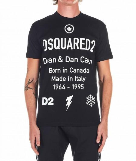 Dsquared2 T-shirt with logo print black