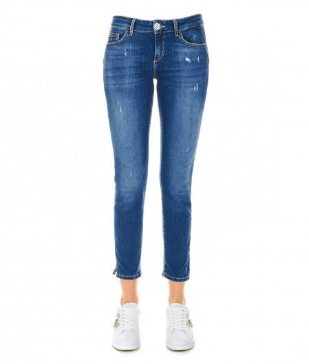 Liu Jo Skinny jeans with strass button navy