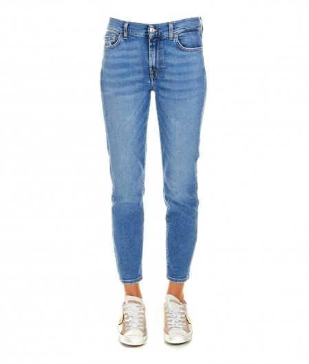 """7 for all mankind Jeans """"Roxanne Ankle"""" Hellblau"""