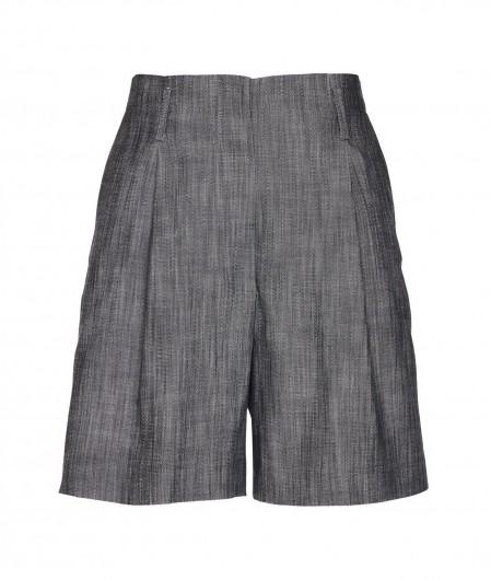 Kaos Shorts aus meliertem Stoff Grau