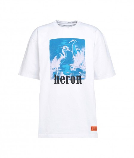 Heron Preston T-Shirt mit frontalem Druck Weiß
