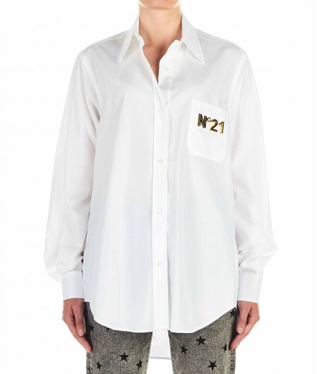 N°21 Blouse with logo detail white
