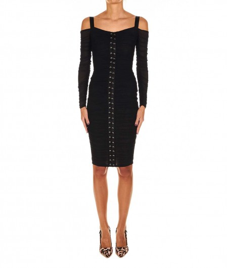 Guess by Marciano Mini dress with braided detail black
