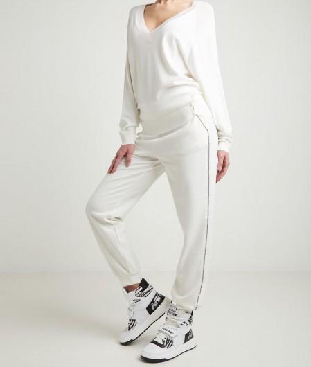 Liu Jo Pullover mit V-Ausschnitt Weiß