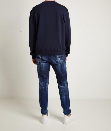 Lanvin Sweatshirt mit Logodruck Dunkelblau