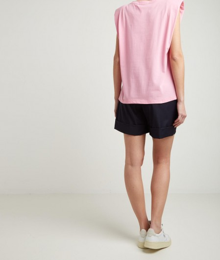 Kaos Top mit Schulterpolster Pink
