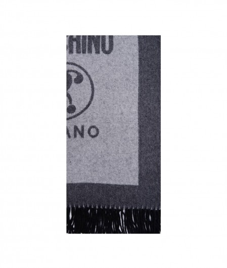 Moschino Scarf in wool gray