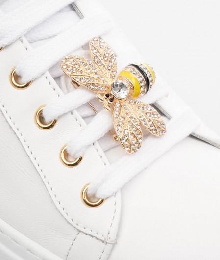 Gio+ Sneaker mit Brosche Weiß