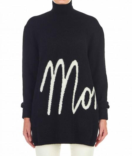 Moncler Pullover mit Logoschrifftzug Schwarz