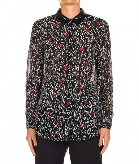 Guess Blouse with allover print black