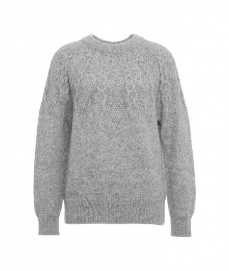 Closed Knitted sweater gray