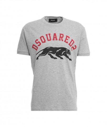 Dsquared2 T-Shirt mit Logoschriftzug Hellgrau