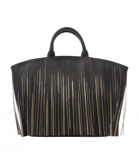 Gum  Handbag Balayage with fringes black