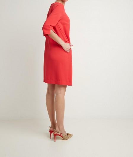Otto d'ame Kleid mit Tropfenauschnitt Rot