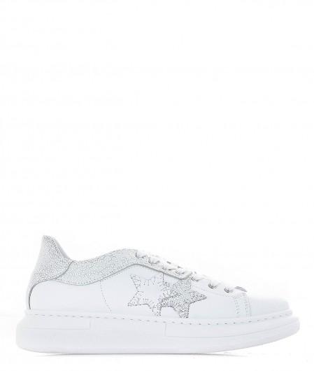 2 Star Ledersneaker Weiß