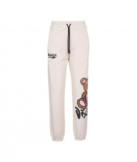 Disclaimer Jogger with logo print beige