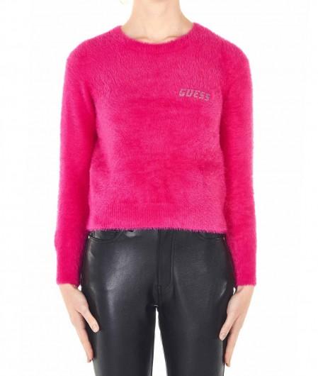Guess Pullover mit Logoschrift Pink