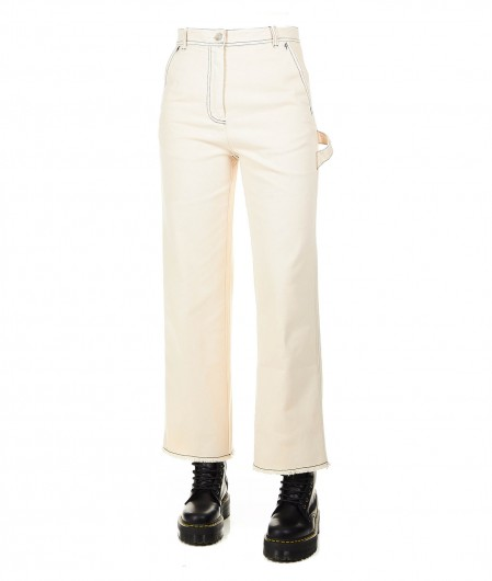 "8PM Jeans larghe ""Pesce volante"" beige"