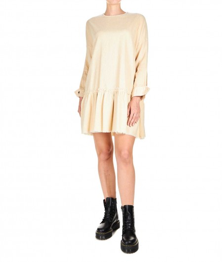 "8PM Cord velvet dress ""Alfa Centauri"" creme"