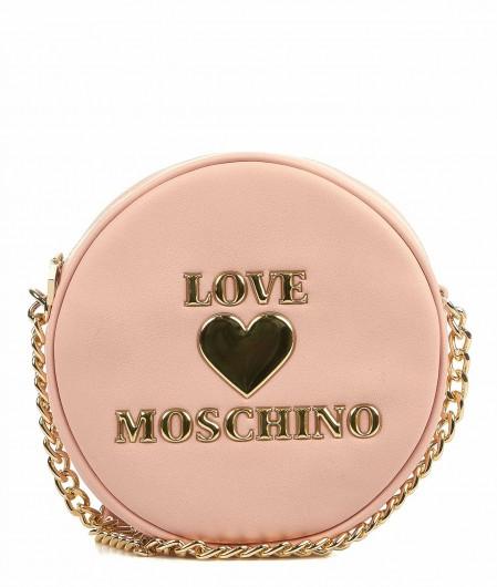 Love Moschino Umhängetasche mit Logopatch Hellrosa