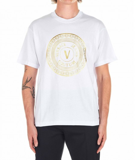 Versace Jeans Couture T-shirt with logo emblem white