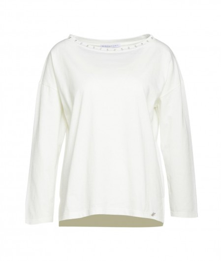Kaos Long sleeve with glitter details white