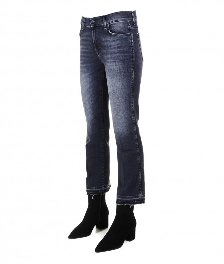 7 for all mankind Cropped boot Jeans grigio scuro