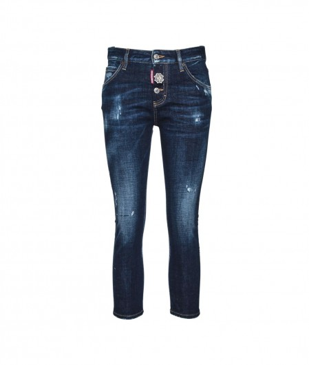 Dsquared2 Cool Girl Cropped Jean Dunkelblau