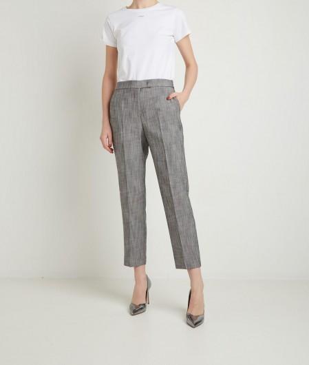 Kaos Trouser in mottled fabric gray