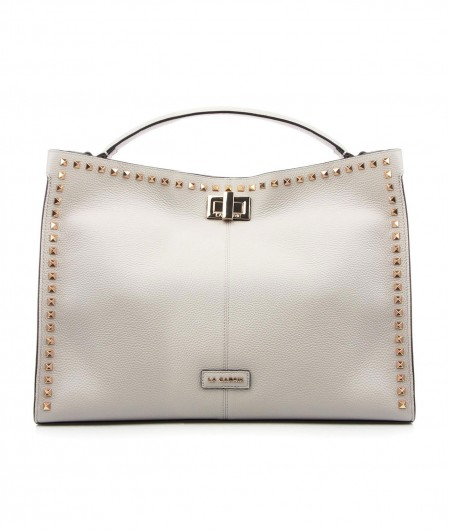 La Carrie Shopper with rivets light gray