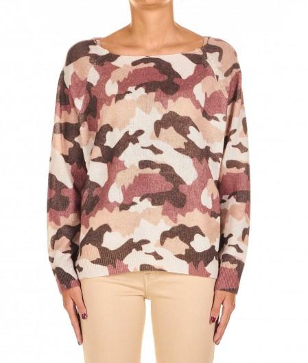 "360 Sweater Camouflage sweater ""Kaya"" brown"