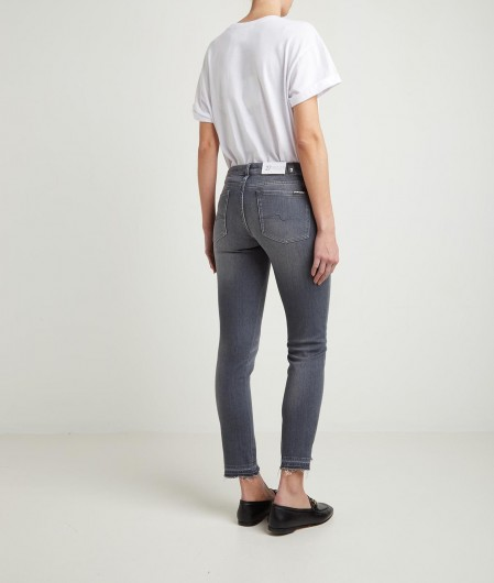 7 for all mankind Pyper Crop Jeans Grau