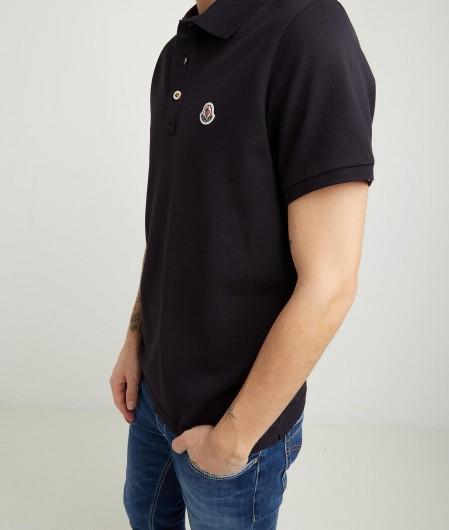 Moncler Polo mit Logostickerei Schwarz