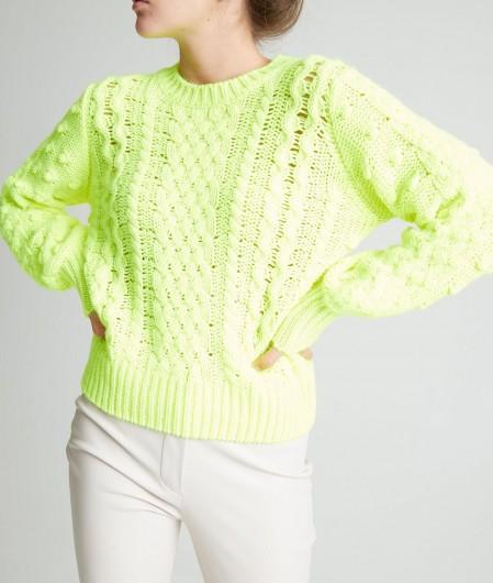 Kaos Sweater neon yellow