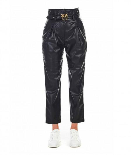 """Pinko Eco leather pants """"Aurelio"""" black"""
