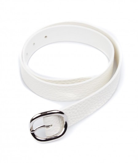 Orciani Leather belt with buckle white