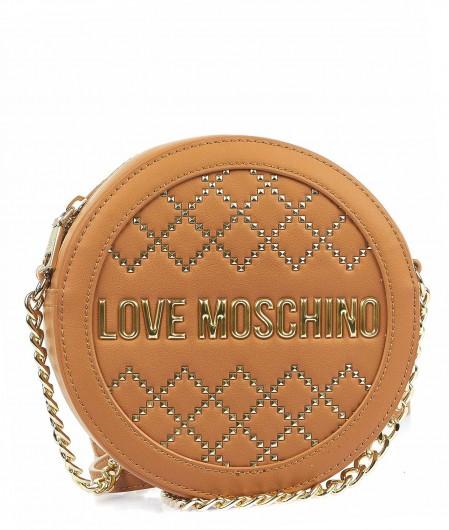 Love Moschino Umhängetasche mit Nieten-Applikationen Hellbraun