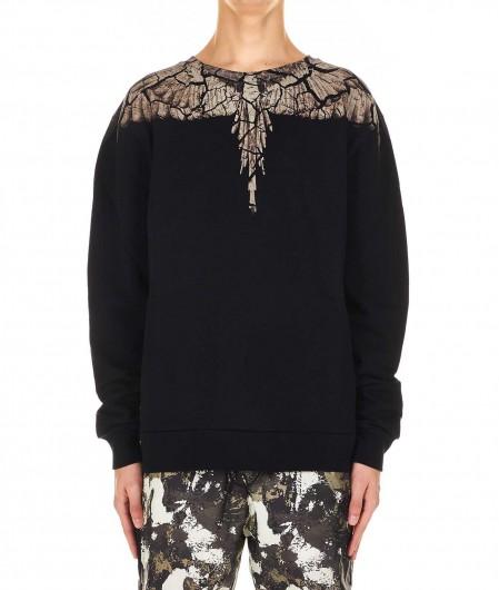 """Marcelo Burlon Sweatshirt """"Earth Wings"""" black"""