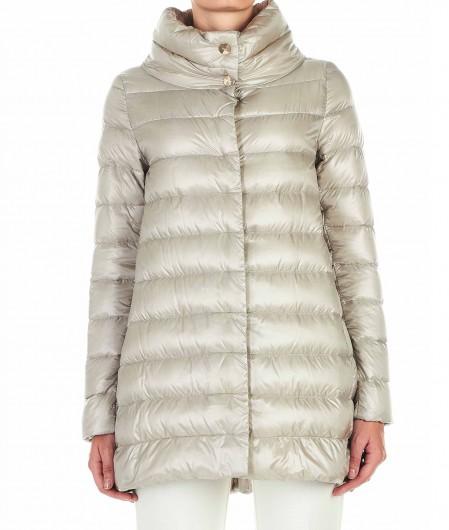 Herno Short down coat light gray