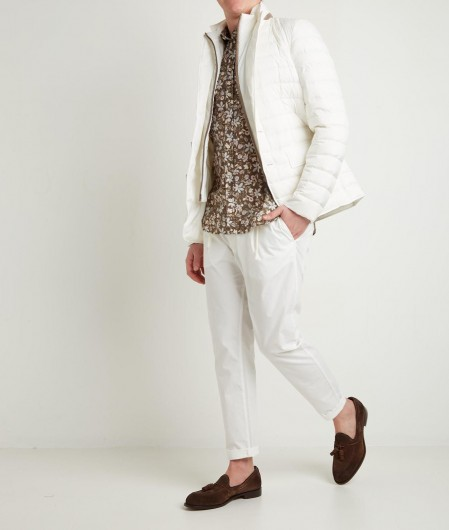 Herno Down jacket with peaked lapels white