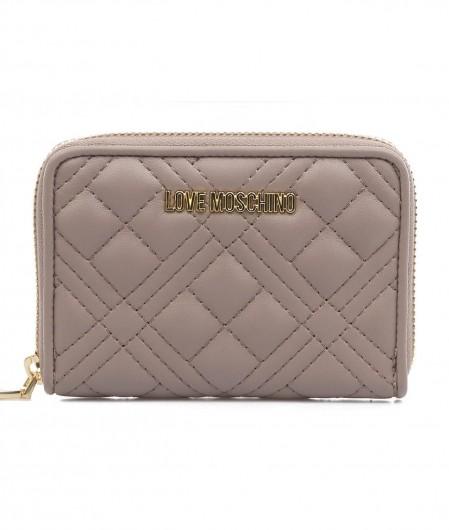 Love Moschino Gestepptes Portemonnaie Grau